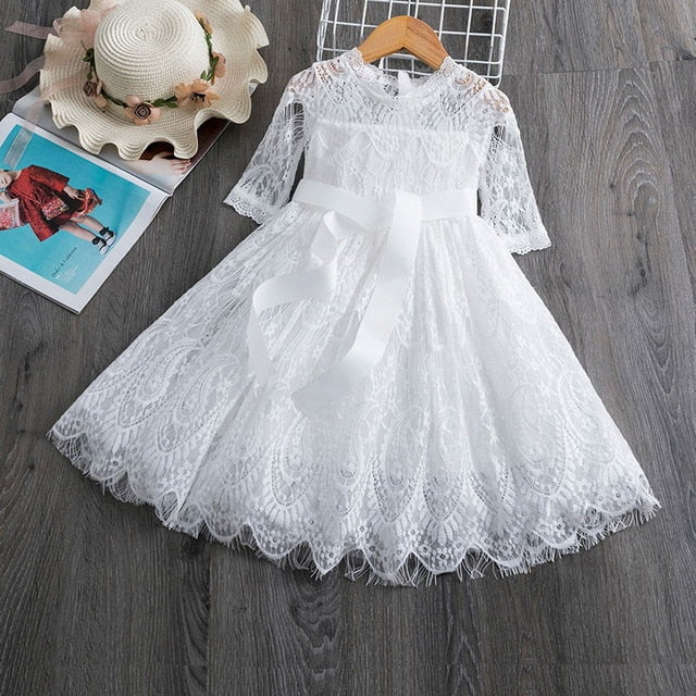 2020 Winter Knitted Chiffon Girl Dress