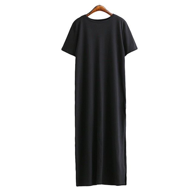 Maxi T Shirt Dress Women Winter Autumn