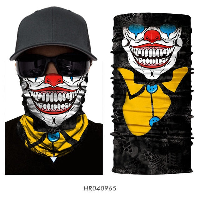 Seamless Balaclava Magic Scarf Neck Face Cover Ghost Skull Skeleton Head Bandana Shield Headband Headwear Bandanas Men Bicycle