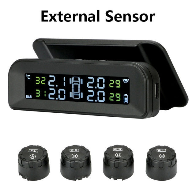 TPMS Car Tire Pressure Alarm Monitor System Real-time Display