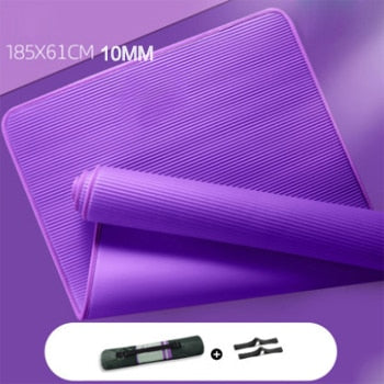 10MM Yoga Mat NRB Non-slip Mats For Fitness Extra Thick Pilates Gym Exercise Pads Carpet Mat