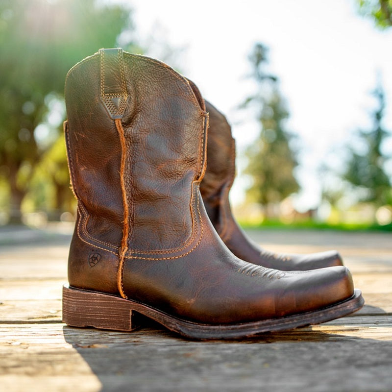 Ariat Men's Rambler Western Boots Brown Leather