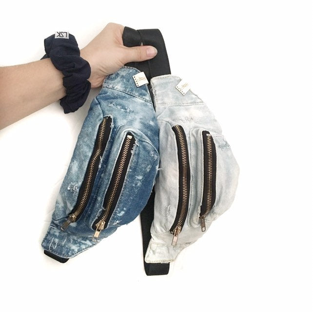 Custom Denim Fanny Pack