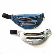Load image into Gallery viewer, Custom Denim Fanny Pack