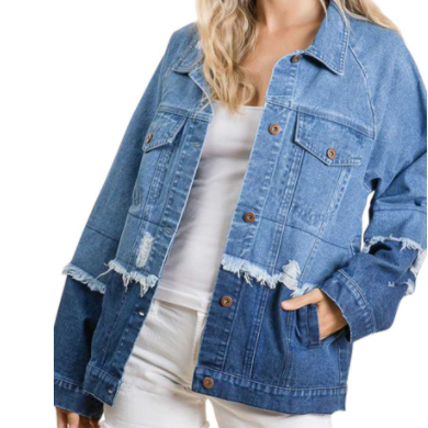 LIGHTWEIGHT DENIM JACKET // TWO TONED