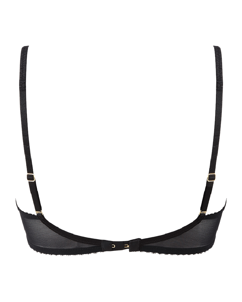 GYPSY NON-PADDED BRA // BLACK