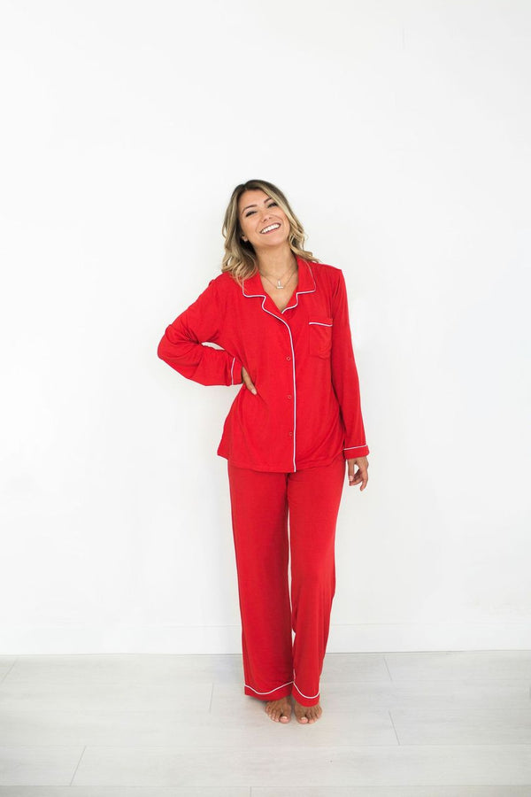 LAUREN PJ SET // HOLIDAY RED