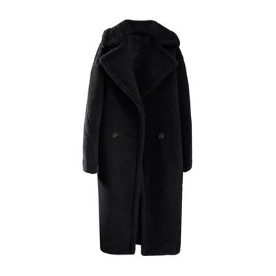 TEDDY MAXI COAT // BLACK
