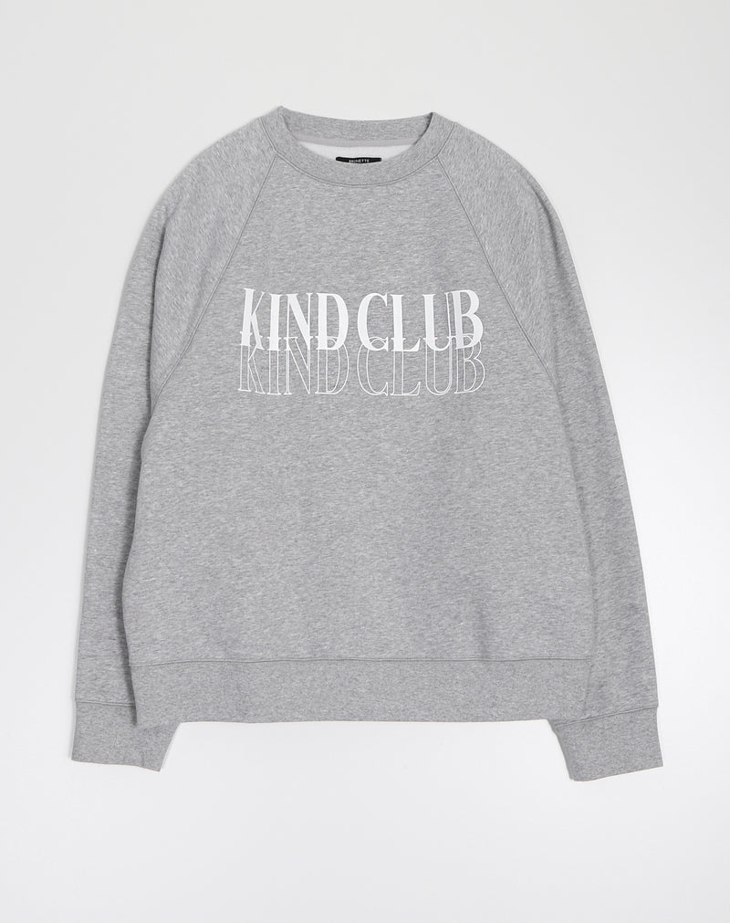 "THE ""KIND CLUB"" NOT YOUR BOYFRIEND'S CREW NECK SWEATSHIRT // CLASSIC GREY"
