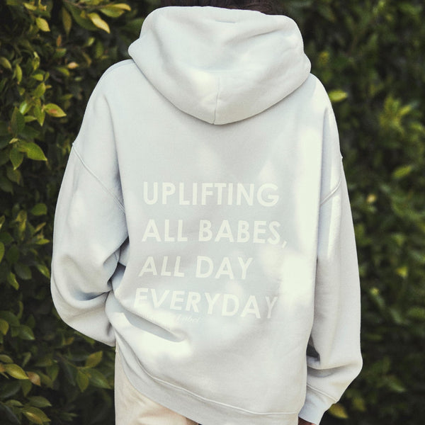 "THE ""KINDNESS CULTURE"" BIG SISTER HOODIE // SUMMER SKY"
