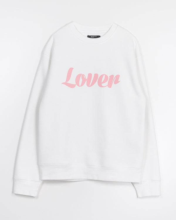 "THE ""LOVER"" CLASSIC CREWNECK SWEATSHIRT // MARSHMALLOW"
