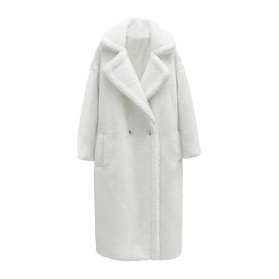 TEDDY MAXI COAT // WHITE