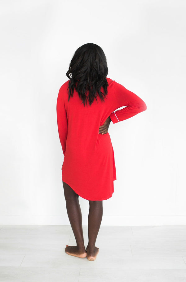 ELLIOT NIGHTIE // HOLIDAY RED