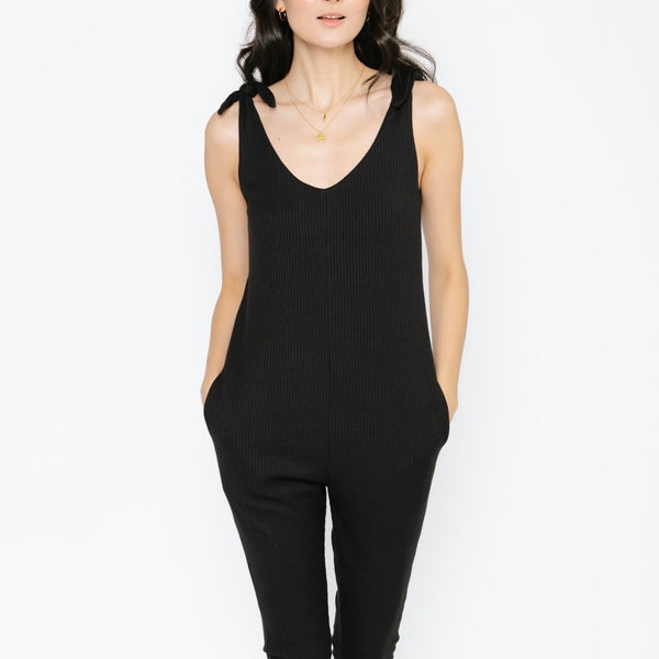 THE KNOT YOUR AVERAGE ROMPER // MIDNIGHT BLACK