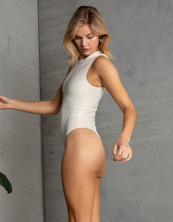 MELBOURNE SLEEVELESS BODYSUIT // BUTTER CREAM