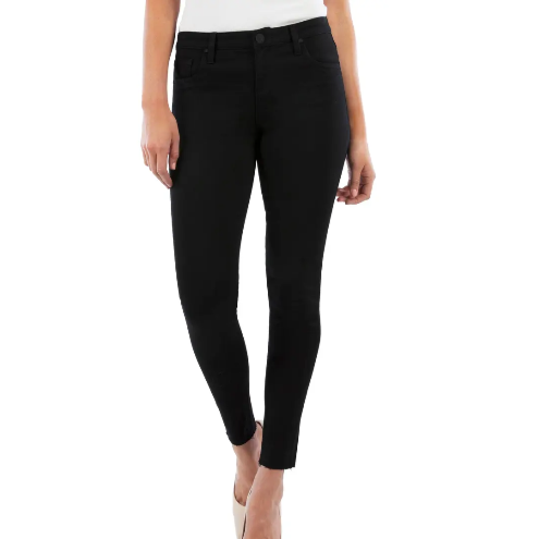CONNIE HIGH RISE ANKLE SKINNY // BLACK