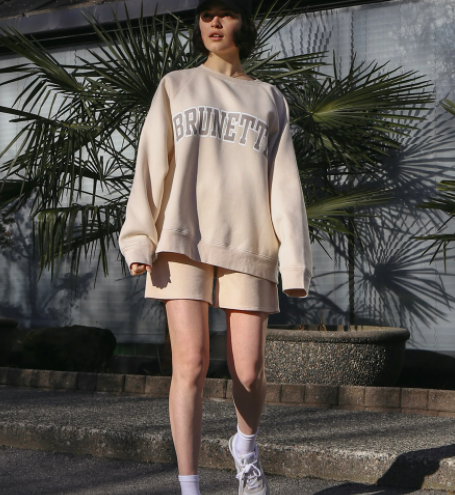 "THE ""BRUNETTE"" NOT YOUR BOYFRIEND'S CREW NECK SWEATSHIRT // FRENCH VANILLA"