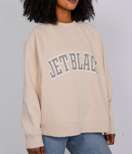"THE ""JET BLACK"" NOT YOUR BOYFRIEND'S CREW NECK SWEATSHIRT // FRENCH VANILLA"