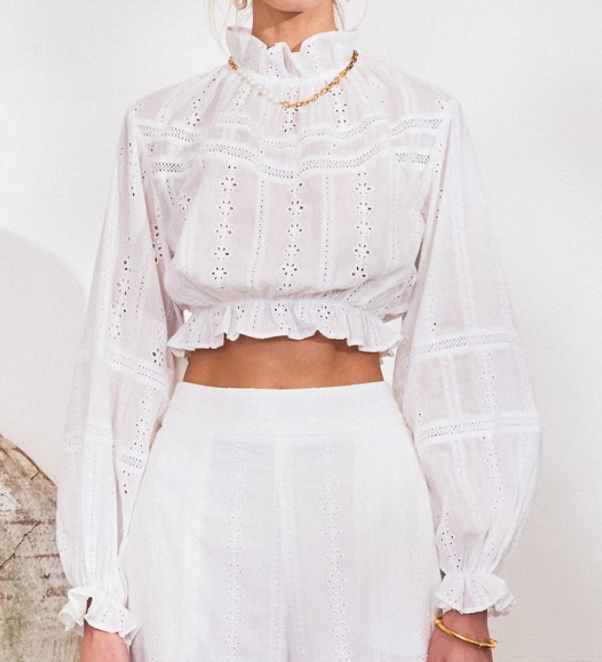 LAINY LACE TOP // WHITE
