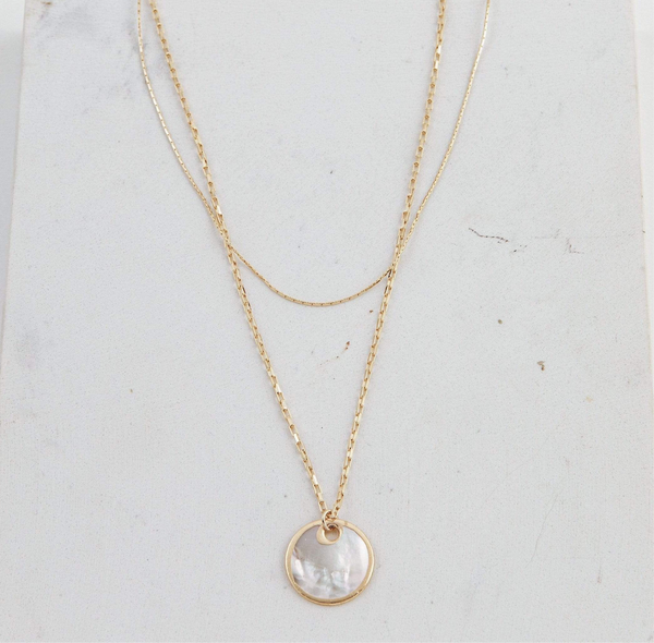 MIRAGE DOUBLE NECKLACE // WHITE