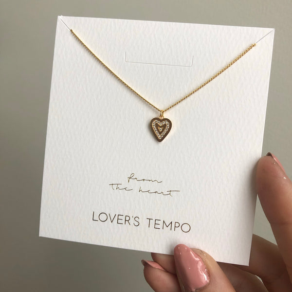 FROM THE HEART NECKLACE // GOLD