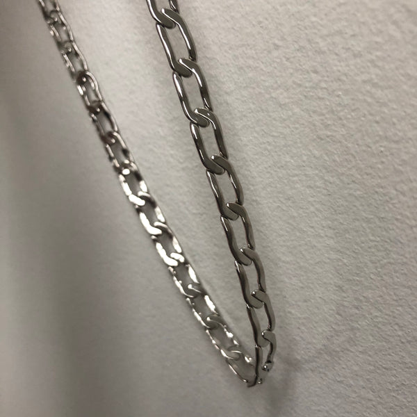 CHAIN REACTION NECKLACE // SILVER