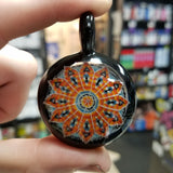 Steve H Fire and Ice Pointillism Pendant - 710 Vapors