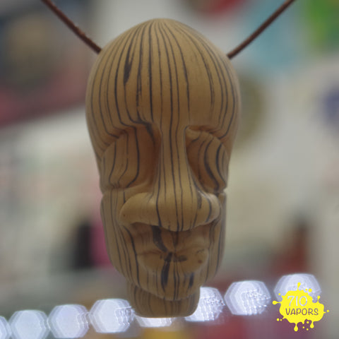 Bishop Glass x Gemini Andy Wood Grain Sculpted Head Pendant - 710 Vapors