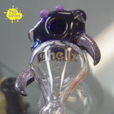 Box Fan x Kit Kanz Glass Crushed Opal Dotacello Helix Pipe - 710 Vapors