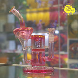 Charli Glass Gold Fumed Honeycomb Re-cycler - 710 Vapors