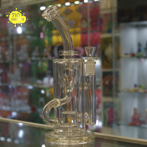 Fatboy Glass Etched Perc Klein Re-Cycler - 710 Vapors