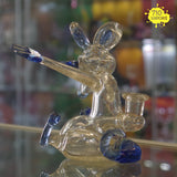 Queso Glass Blue-V Dancing Rat Rig - 710 Vapors