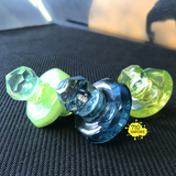 Lodi Glass Faceted Directional Airflow Caps - 710 Vapors