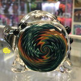 Rainbow Linework Horned American Helix Signature Series Spoon - 710 Vapors