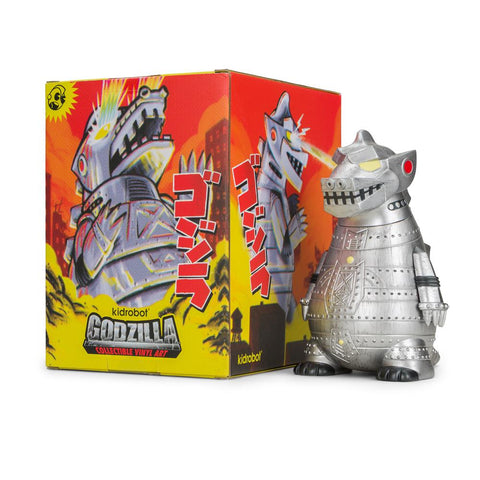 "MECHAGODZILLA 8"" ART FIGURE BY KIDROBOT - BATTLE READY EDITION - 710 Vapors"