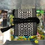 Libby Goines Hand-Knit Black and White Pendant Pouch
