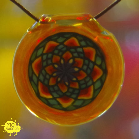 Motavation Glass Hollow Disk Fillacello Pendant - 710 Vapors