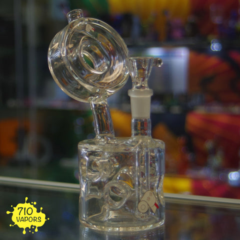 Plumb Glass Swiss Puck Mini Rig - 710 Vapors