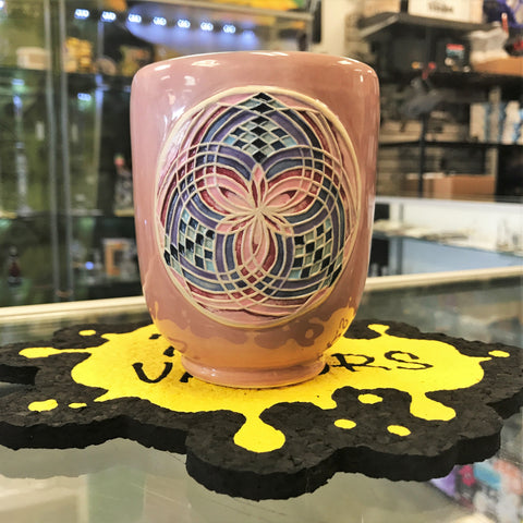 Sury Art Studios Salmon  Eusheen-Inspired Clay Fillacello Cup - 710 Vapors
