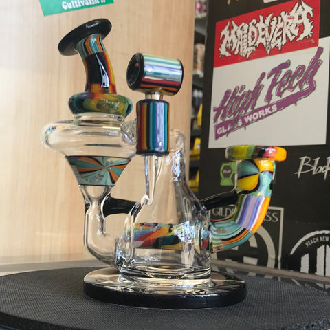 The Wisco Kid X Julian J Glass Recycler - 710 Vapors