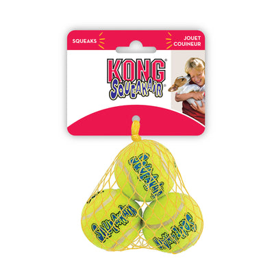 KONG Air Squeaker Tennis Ball X-Small 3pk (4cm)