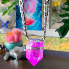 Load image into Gallery viewer, Purple Aura Quartz Choker