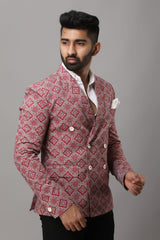 Multicolored Printed Partywear Blazer