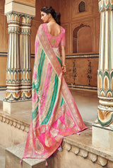 Multicolor Banarasi Saree