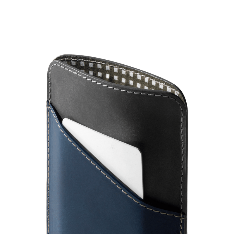 Charcoal Grey Slip-in Leather Phone Sleeve For iPhone 12 - Chamlooks
