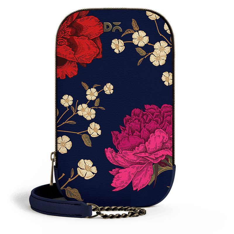 Midnight Chrysanthemums - TallBoi Crossbody Bag