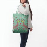Mint Peacocks Basic Tote Bag - Chamlooks
