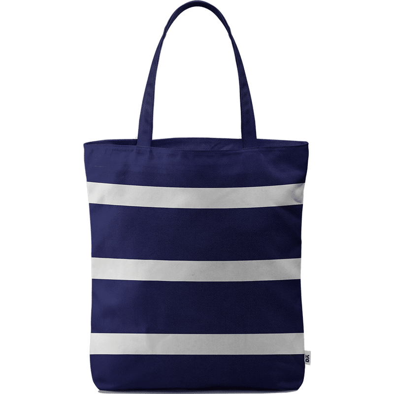 Navy & White Basic Tote Bag - Chamlooks