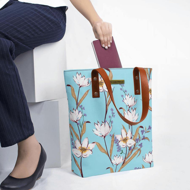 Sky Blue Lilies Classic Tote Bag - Chamlooks