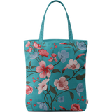 Turqoise Blooms Basic Tote Bag - Chamlooks